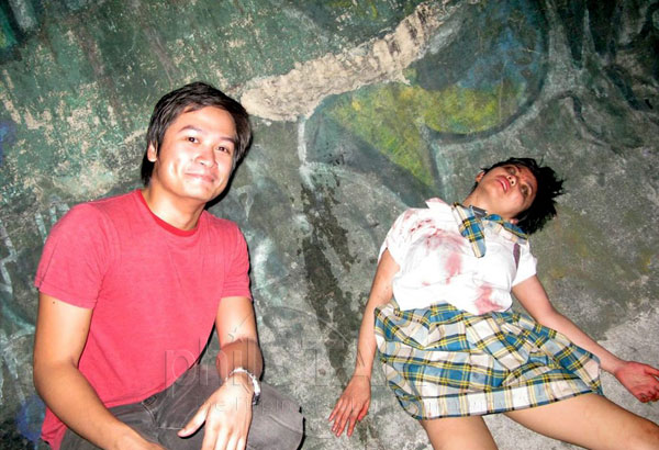 Dead Kakai with audience member.jpg