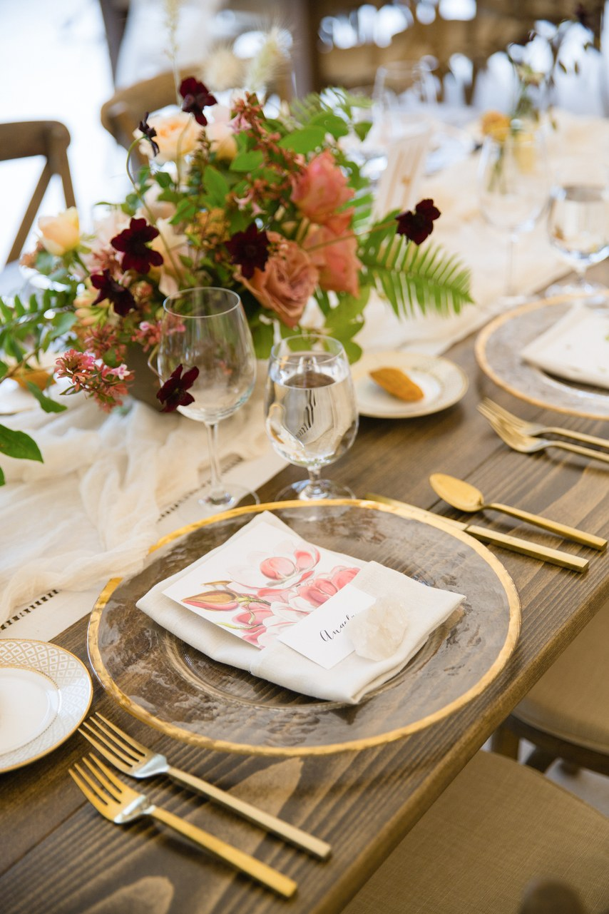 Tabletop Decor by Encore Events Rentals, Theoni and Lambert Floral Studio