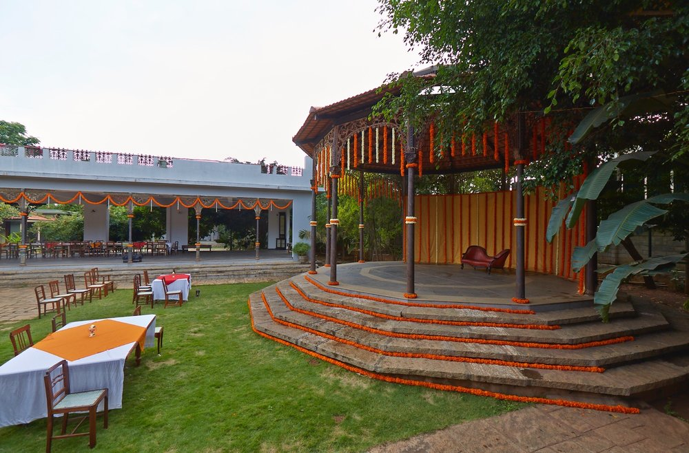 Public Speaking Venue with lush green lawn  | The Tamarind Tree