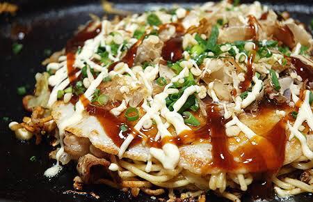 Fudō: Okonomiyaki (Japanese Savoury Pancake)