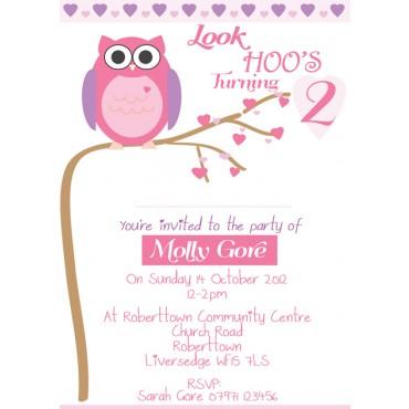 Olivia owl personalised birthday invitations natalie williamson olivia owl personalised birthday invitations filmwisefo
