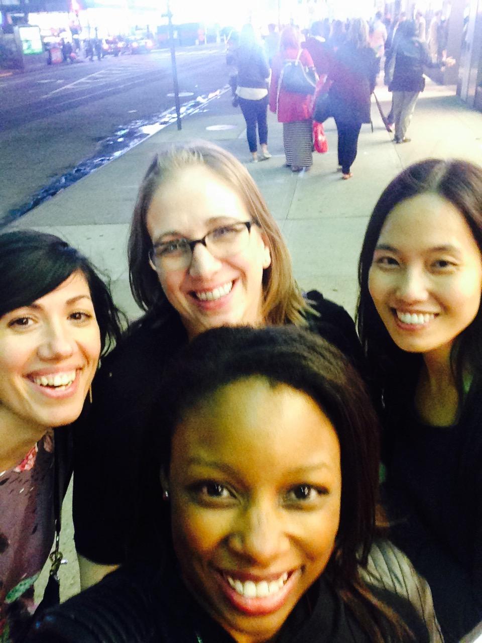 Compulsory Times Square tourist selfie!
