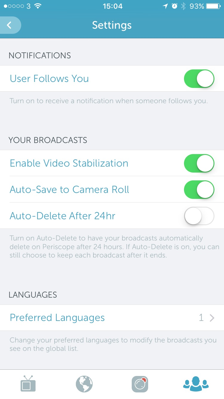 Go to setting to make changes to your video preferences