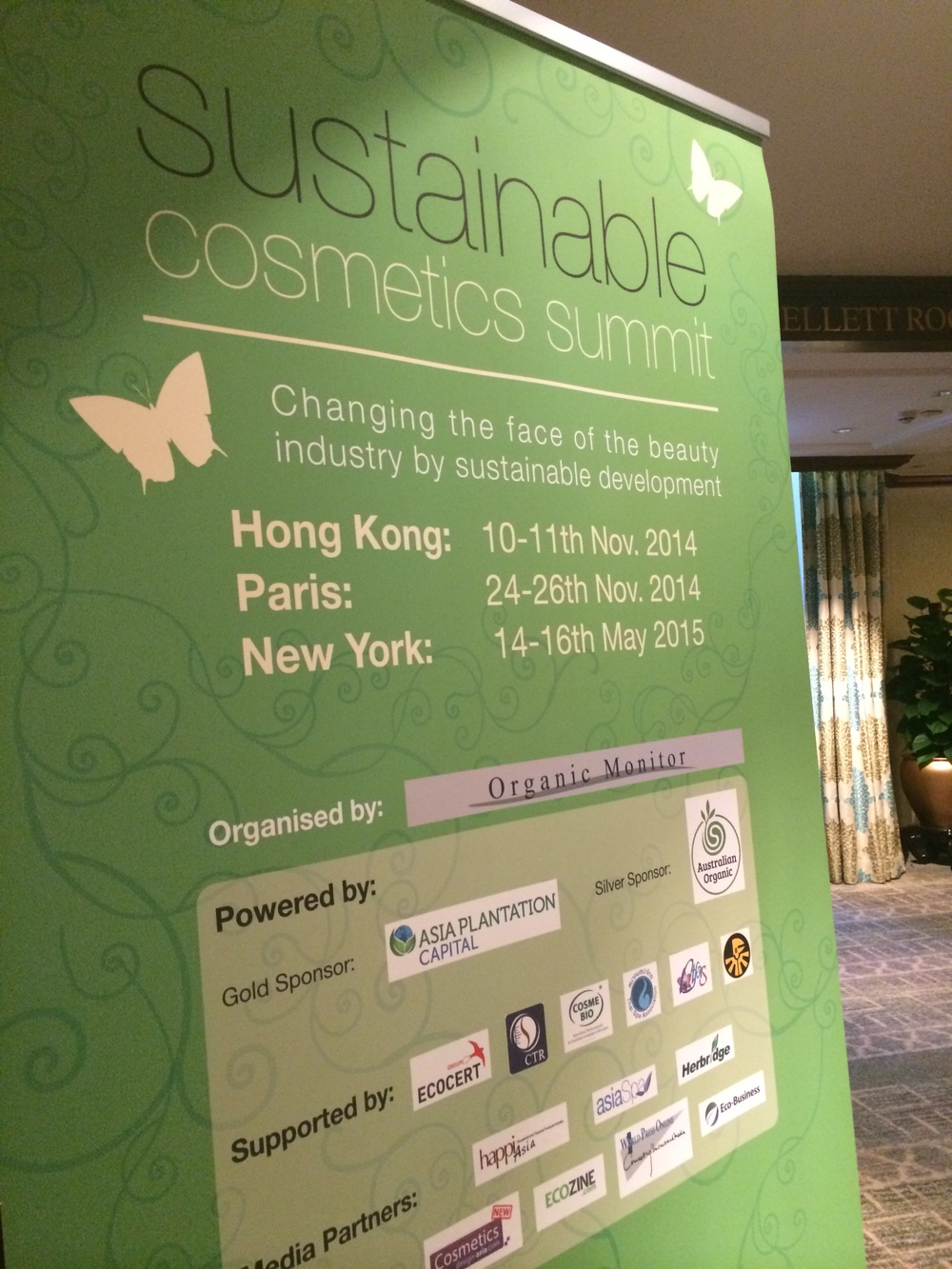 Sustainable Cosmetics Summit 2014 HK