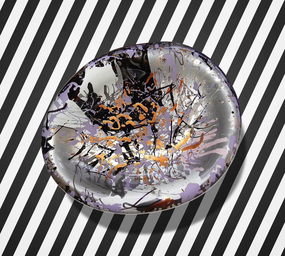 """DIRTY LITTLE SECRETS #01"" / 2014 / bowl / hand blown filigree glass / mixed media / Iiro A. Ahokas"