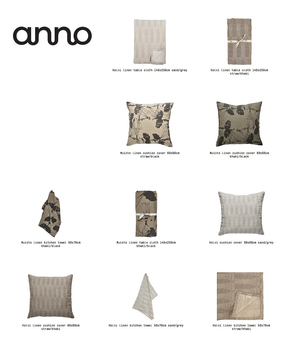 "Special edition collection ""ARBORETUM"" for Anno Collection. Images: Anno Collection"