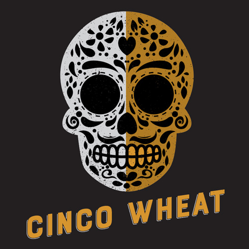 Cinco wheat  This seasonal, guacamole inspired Wheat ale is brewed with flaked maize, cilantro, sea salt, and lime. ¡Salud!  5.5%