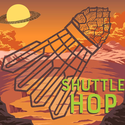 shuttlehop #6  3...2...1...BLASTOFF with this fluffy, pillowy, ultra smooth and SUPER HOPPED HAZY IPA. Boasting zero bitterness yet packed with 12.5 lbs of hops.Prepare to launch your taste buds into outer space!  5.5%
