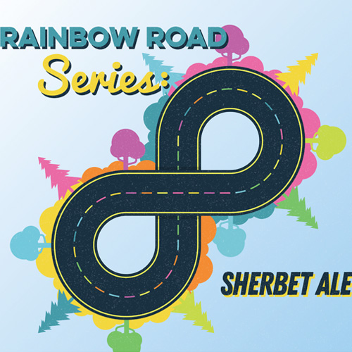 Rainbow Road  This berliner-weisse style ale features freshly toasted coconut, vanilla bean, lactose, and lactobacillus to create a sherbet style sour ale.  5.5%