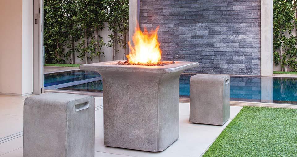Brown Jordan Indoor/Outdoor Fire Pits - Brown Jordan Indoor/Outdoor Fire Pits — Traditions Unlimited, 814