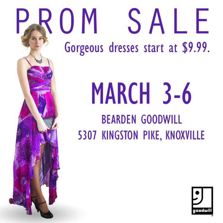 Prom Sale at Bearden Goodwill — Goodwill Knoxville