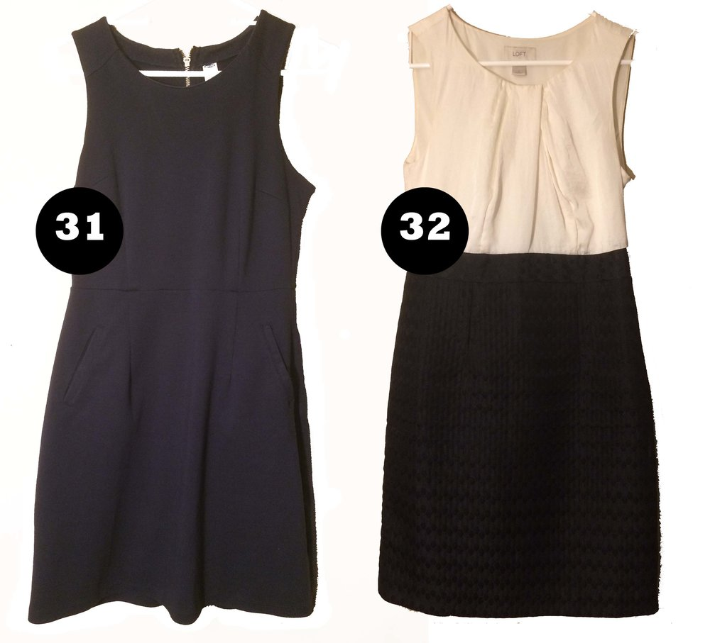 Dresses - Sleeveless dresses are lovely in the summer, and in the winter easy to layer with a sweater and leggings.