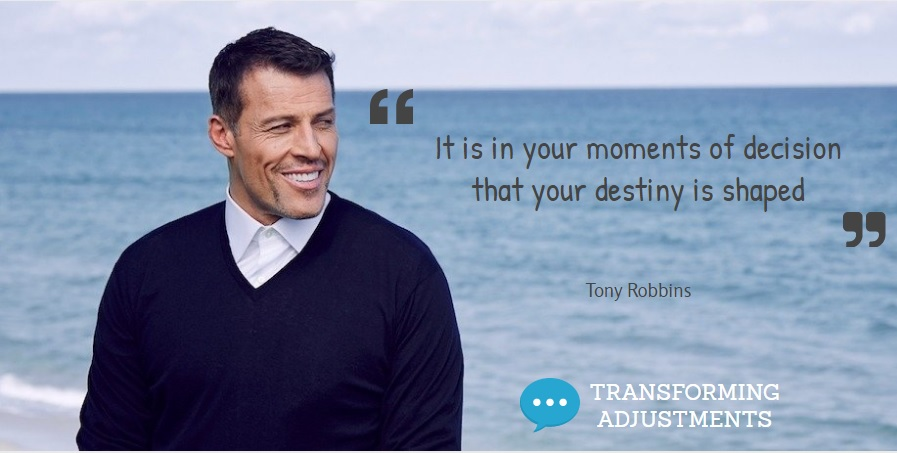 tony robbins decision quote