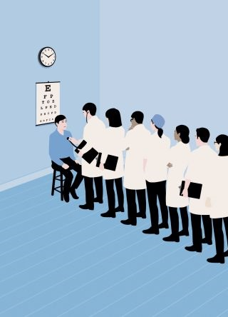 Millions of Americans get tests, drugs, and operations that won't make them better, may cause harm, and cost billions. Credit Illustration by Anna Parini (Overkill by Dr Atul Gawande. Published in The New Yorker)