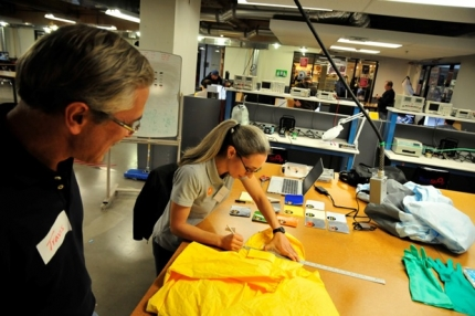 "The ""Design Retrofit"" Team at Work (Photo by Wendy Taylor)"