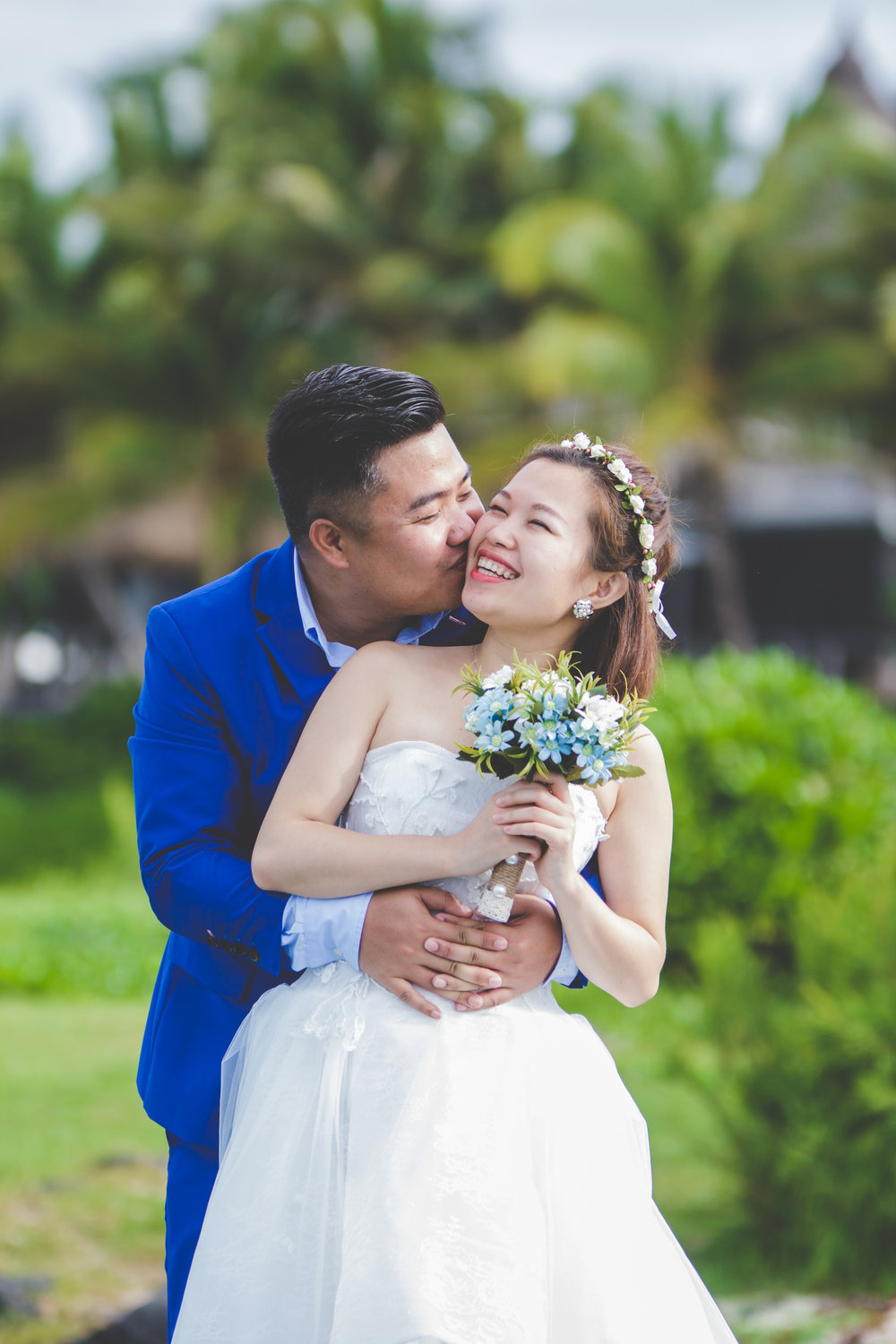 Chinese couple at LUX Belle Mare in Mauritius