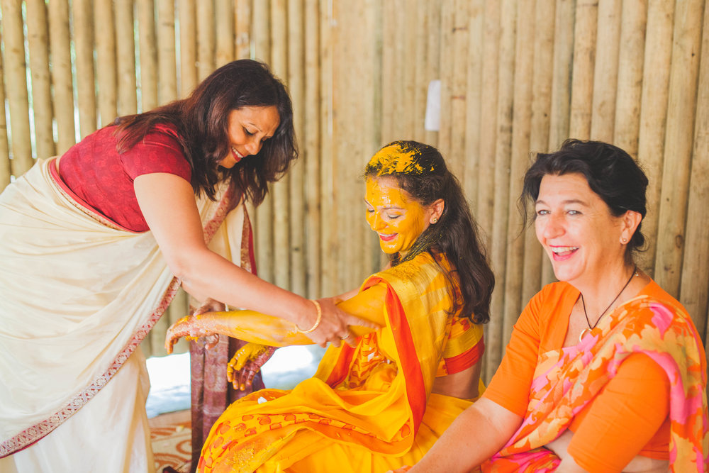 Haldi Photo. Indian Wedding in Mauritius