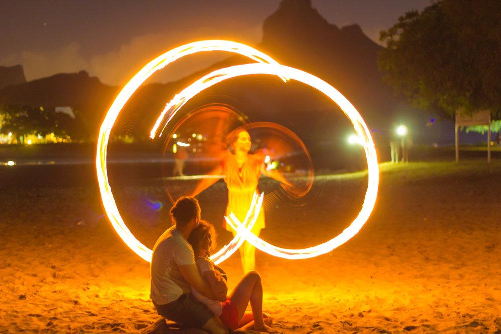 Delphine & Nicholas Fire Juggling Photo