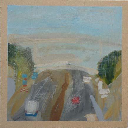 Motorway - Acrylic on Board (21.08cm Square).JPG