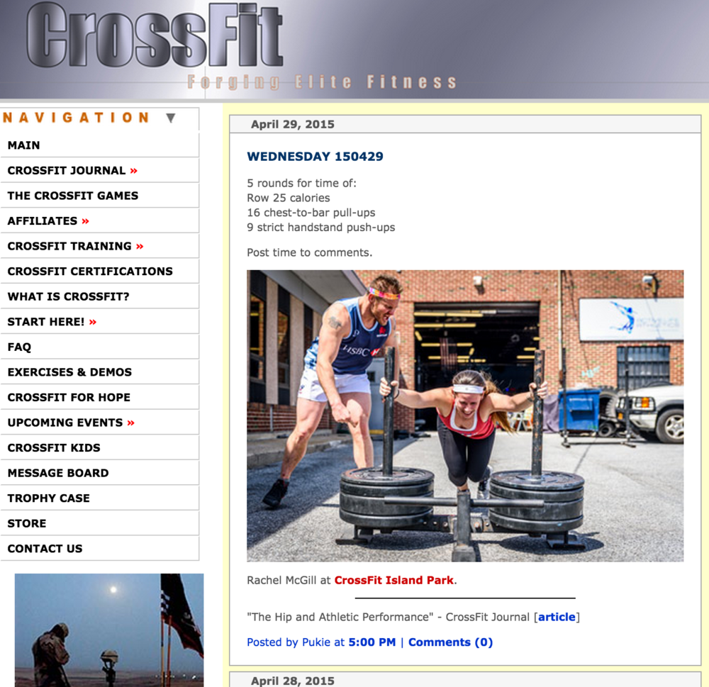 So cool!  Rachel and Keith making CrossFit.com!