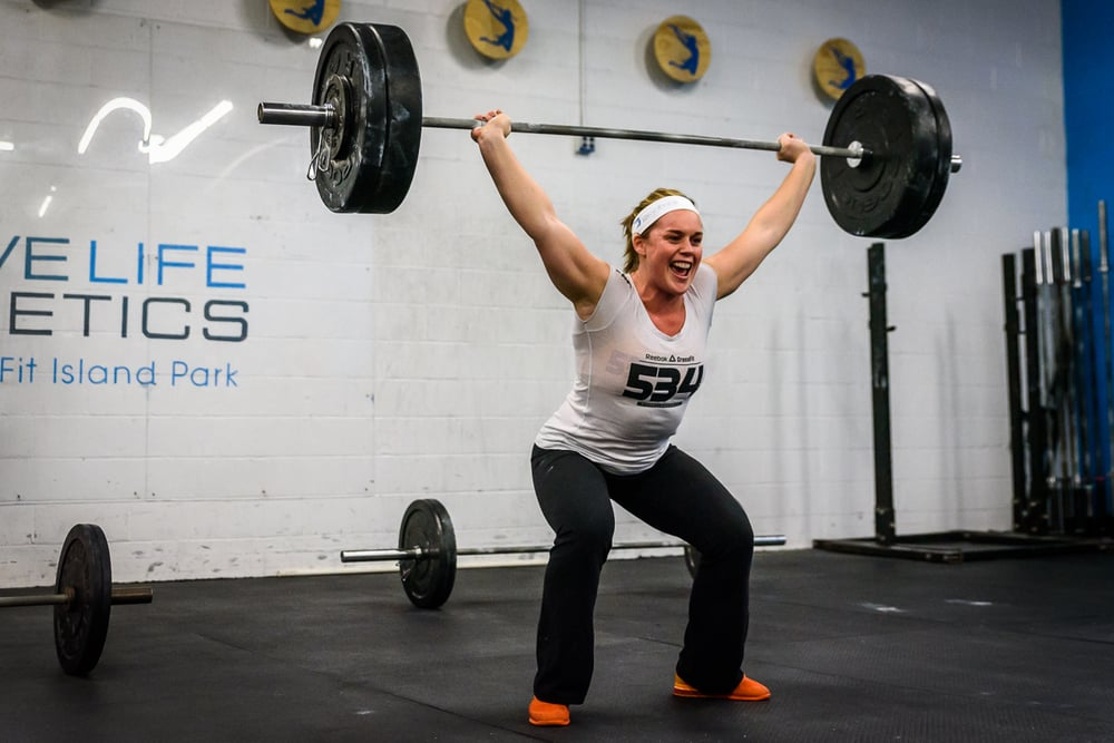 Congrats to Coach Kait on hitting a 185 snatch during today's 5PM class -- three years in the making!  And a huge congrats to everyone else who took on the 1RM test today.  Whether you PR'd or not you brought your a-game and that's what these test days are all about