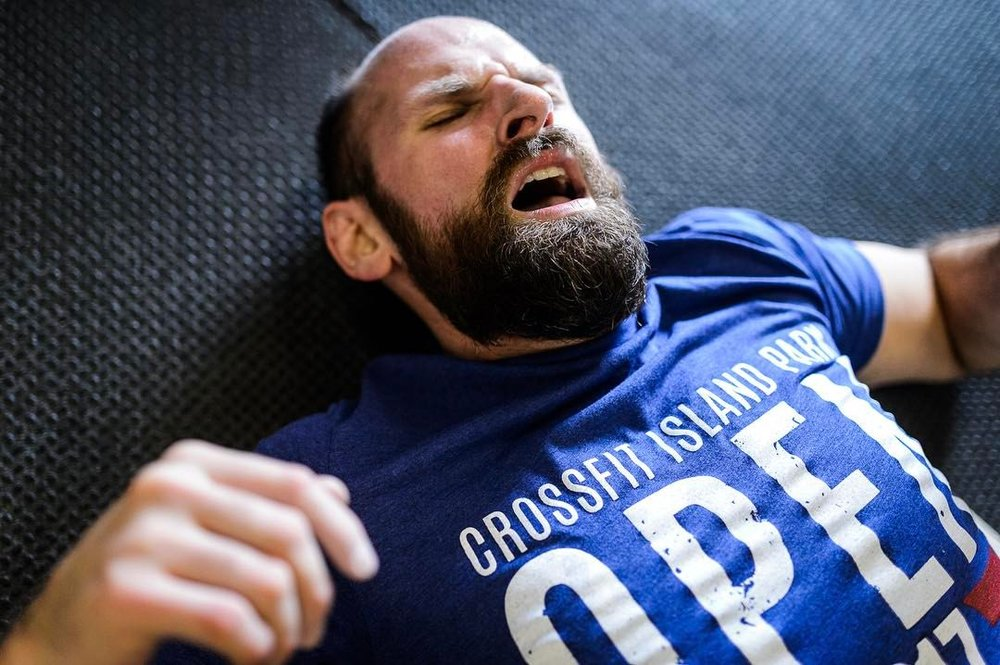The moment you finish 17.1 ... Athlete: Gregg Audiffied Photo: Shaun Cleary