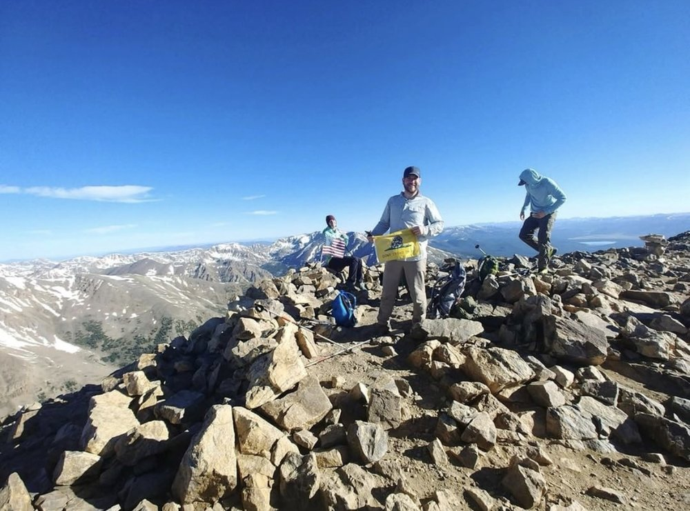 Spiros Botos climbed Mt. Elbert in Colorado this past weekend.