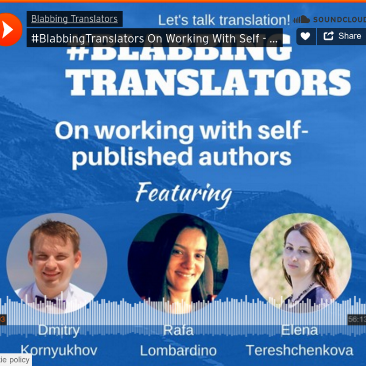 Interview with Blabbing Translators   Sent April 29, 2016