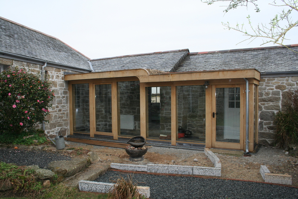 Timber Framed Extension in Cornwall