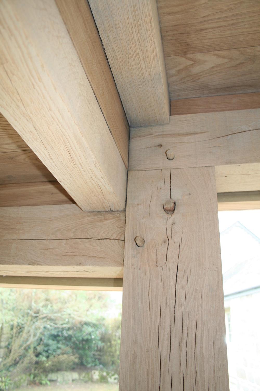 Extension in Cornwall - oak frame