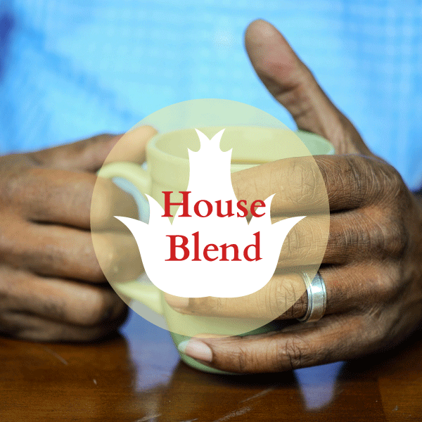 Our house coffee is a wonderfully mild and mellow blend of Central and South American coffees.