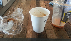 Better Buzz Coffee – remnants of a cookie, macchiato (?) and smoothie