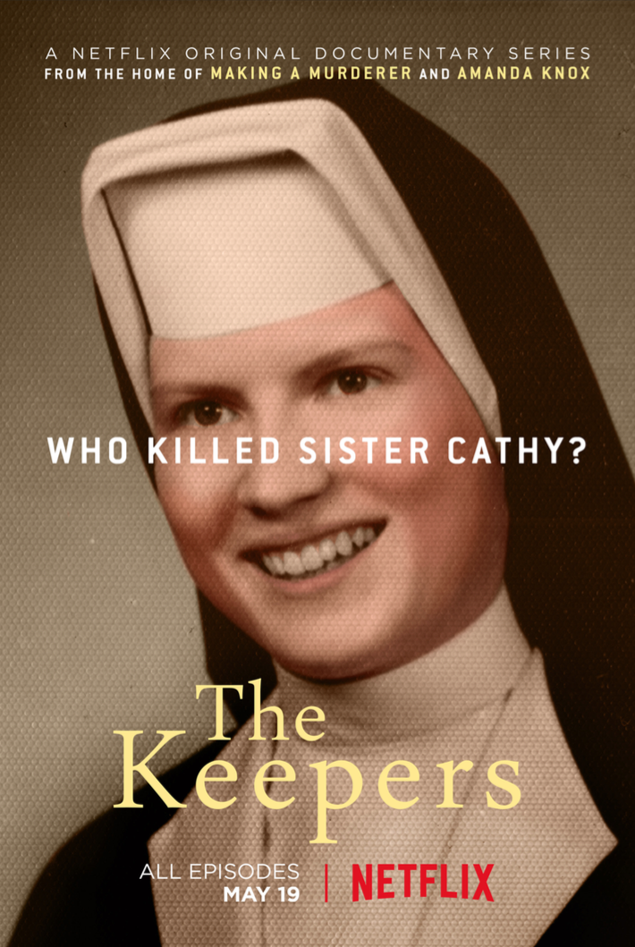 The Keepers investigates the unsolved murder of a young nun in Baltimore and the horrific secrets and pain that linger nearly five decades after her death. Emmy-nominated and now available on Netflix. Winner, Cinema Eye Honor for Nonfiction Filmmaking for Broadcast.