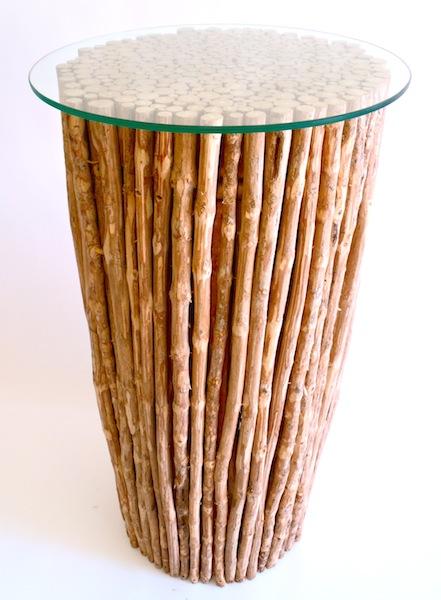 Coffee Wood Columns    Sm 20 dia x 24 H / Md 20 dia x 32 H / Lg 20 dia x 40 H