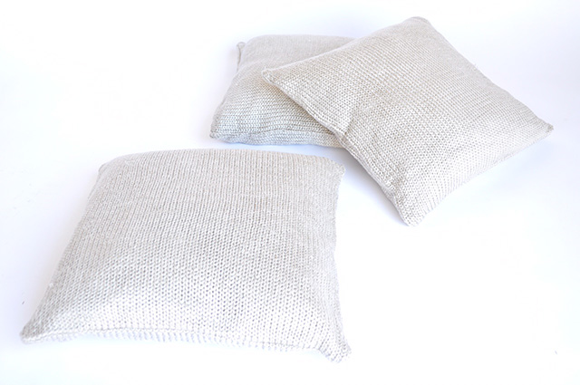 Cream Knit PIllows