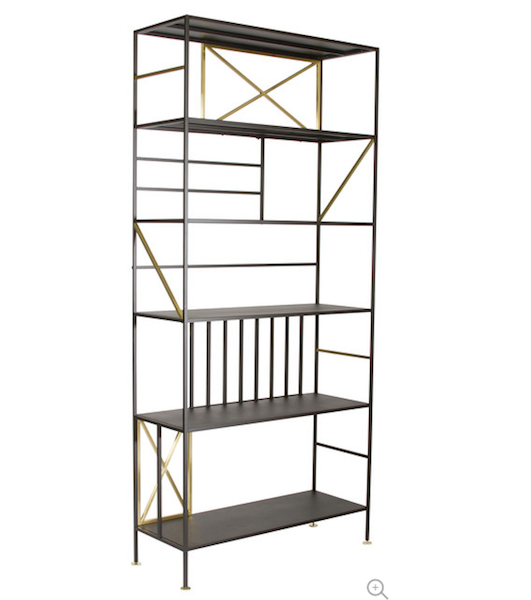 Black & Bronze Bookcase