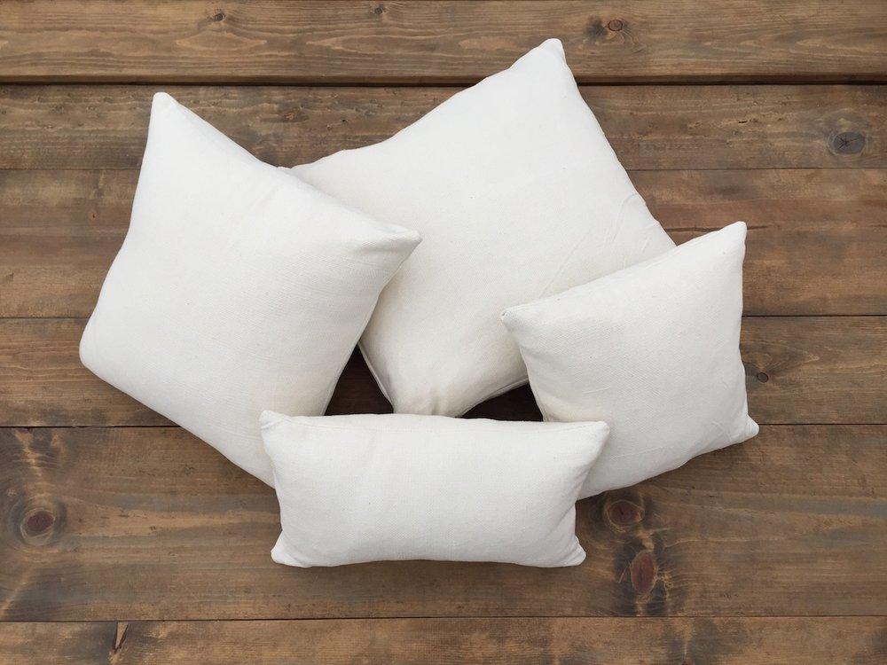 Simple White Pillows
