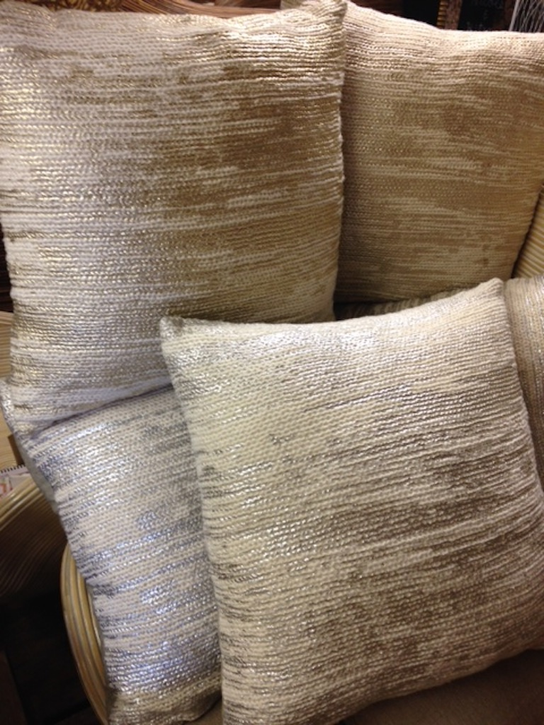 Silver & Gold Shimmer Pillows