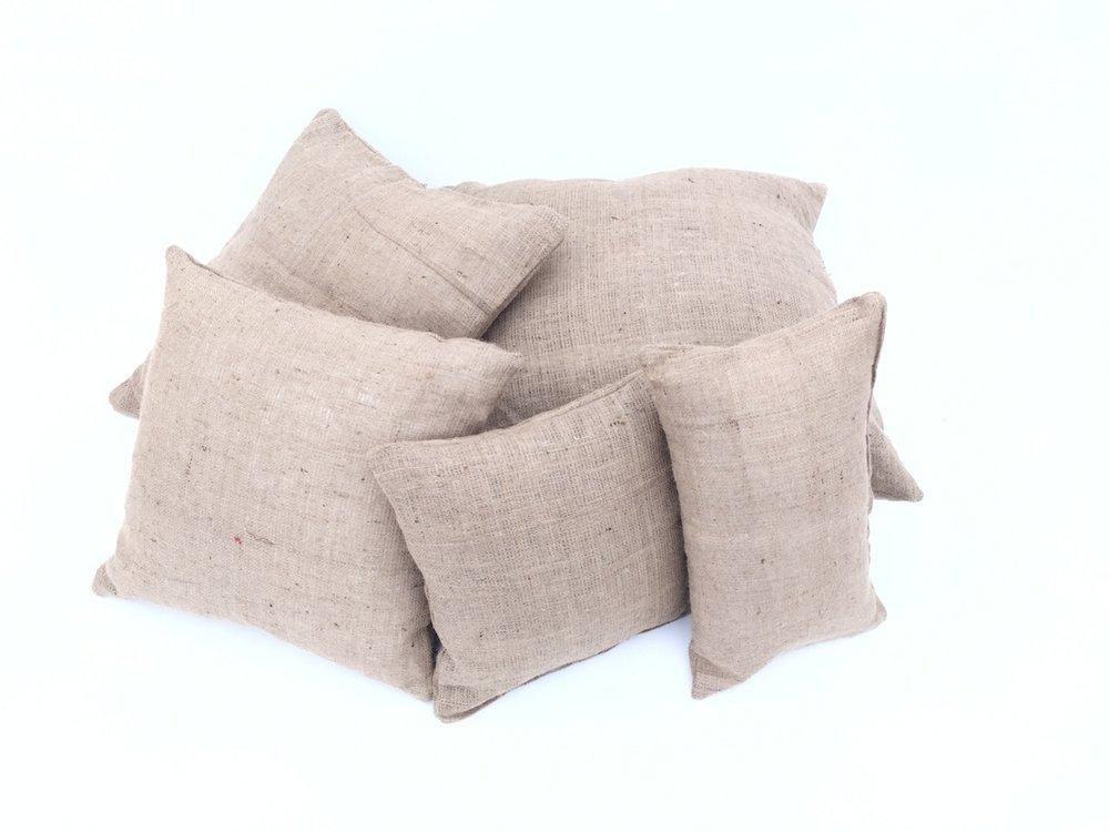 Burlap Cushions