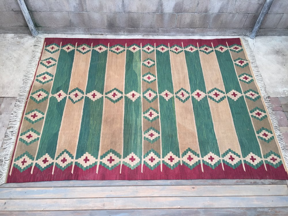 Green Tribal Rug