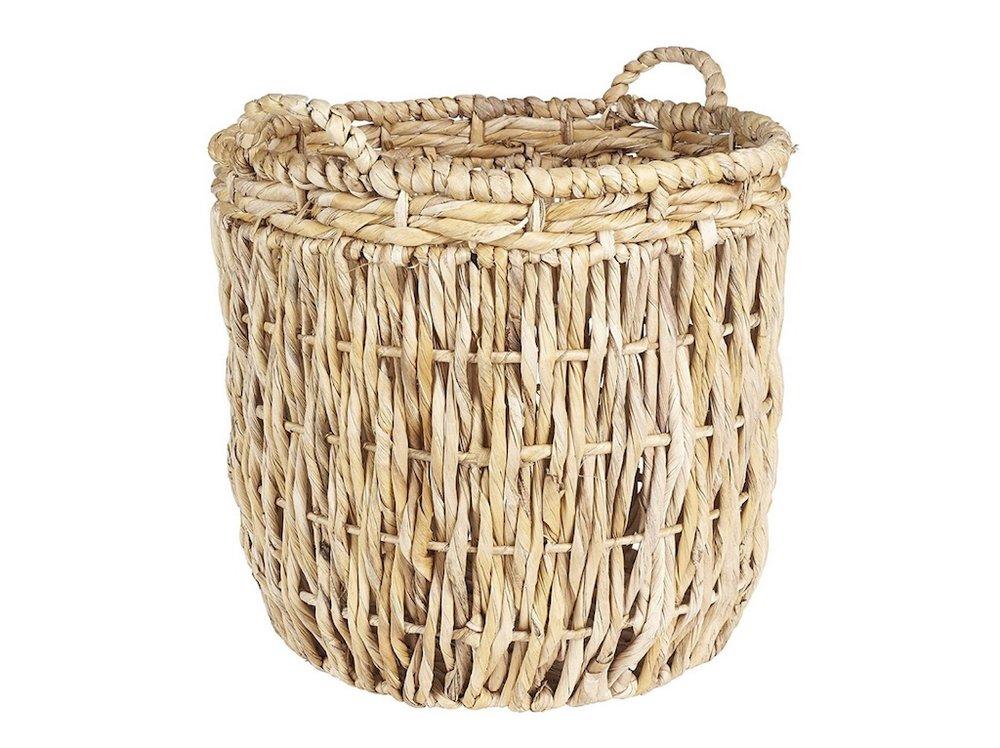 Lg Leaf Rope Basket