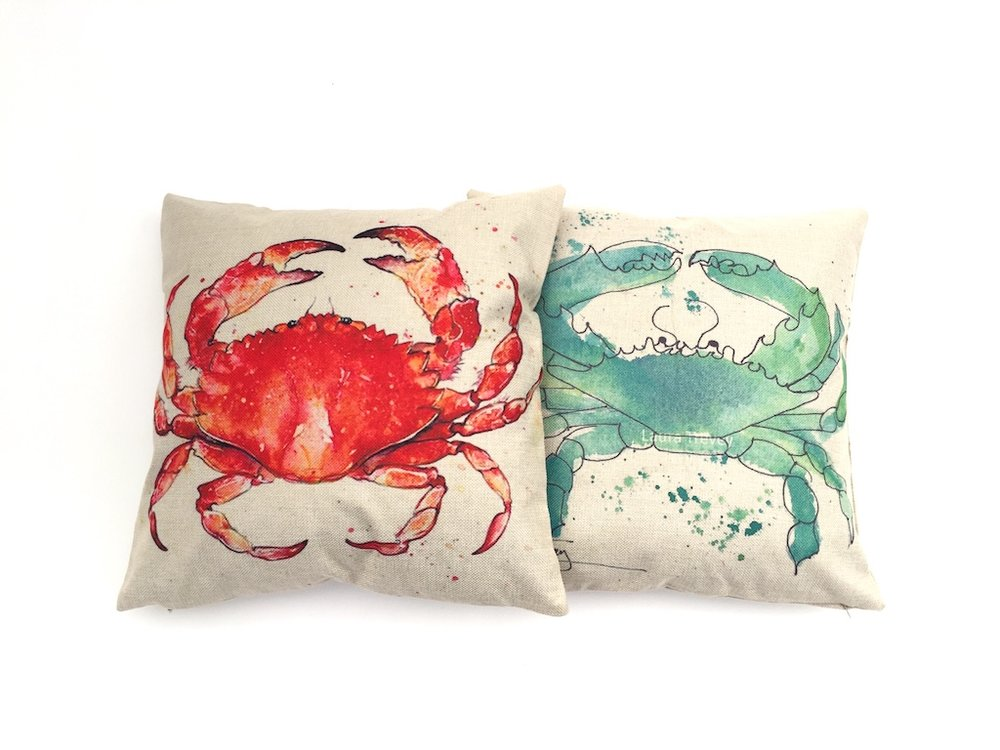 Crabby Pillows