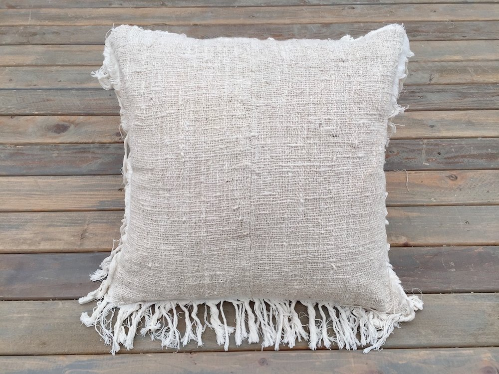 Texture & Fringe Pillow