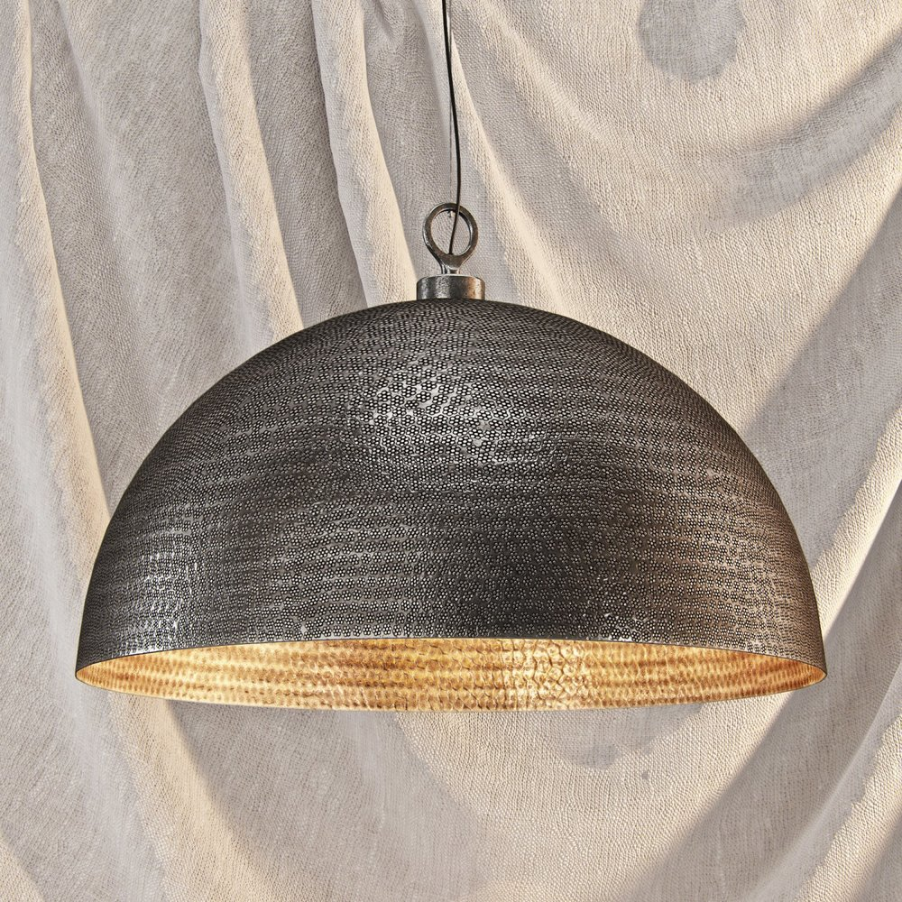 TEXTURED METALLIC LANTERN