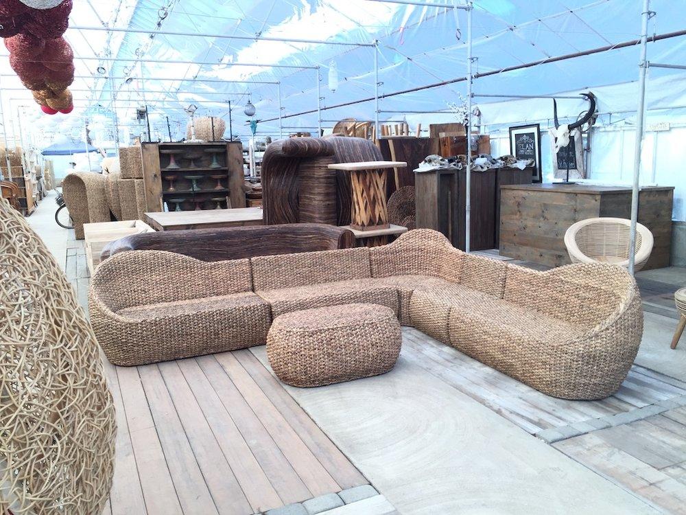 Large Woven L Lounge