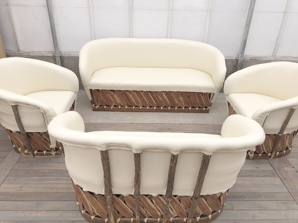 4pc Ivory Lounge Set