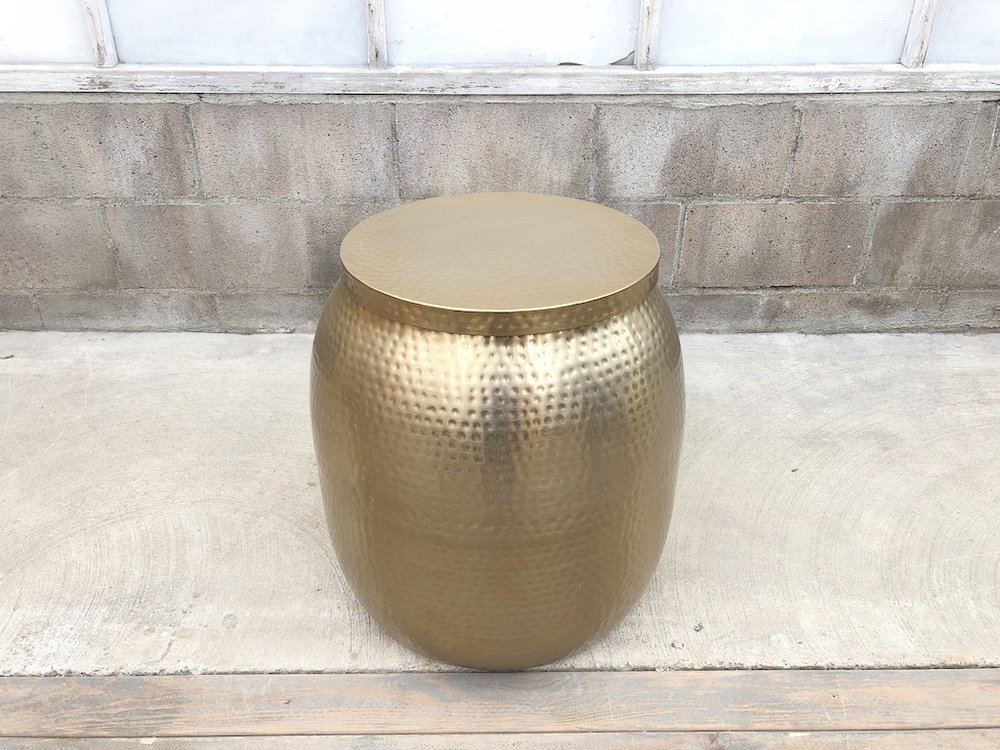 Tall Dimpled Metallic Table