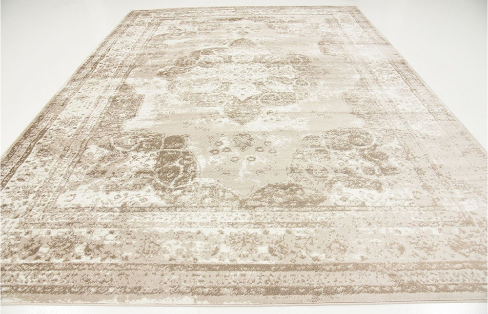 Faded Neutral Persian Rug