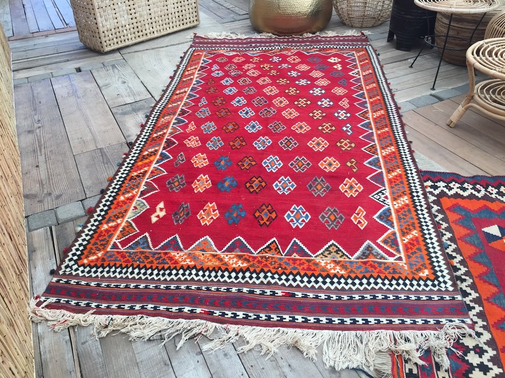 Red Tribal Rugs #1