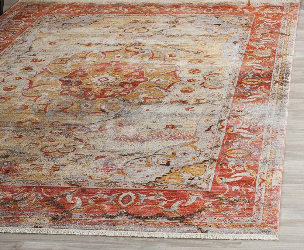 Faded Saffron Persian Rug